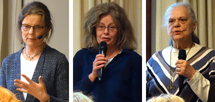 Annika Larsson, Eva Flygare Wallén, samt Christina Fleetwood.