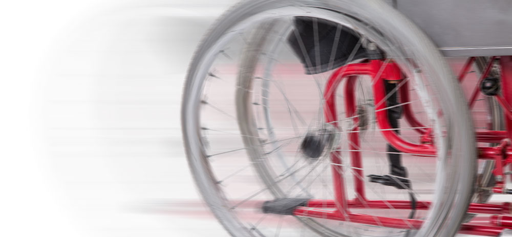 Snabbt rullande rullstol