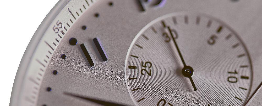 Närgången detaljbild av en klocka