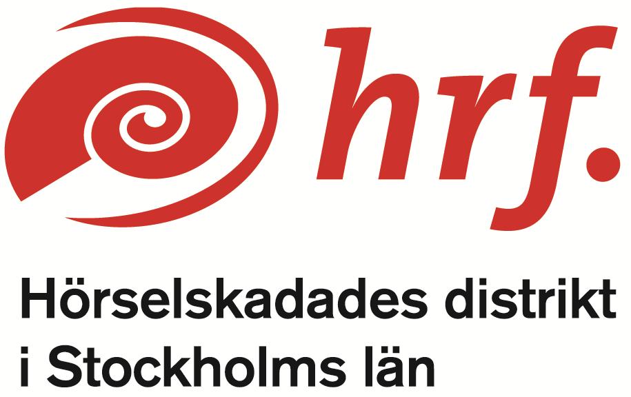 Logotyp Hörselskadades distrikt i Stockholms län