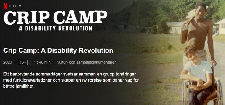 Filmen Crip Camp finns på Netflix