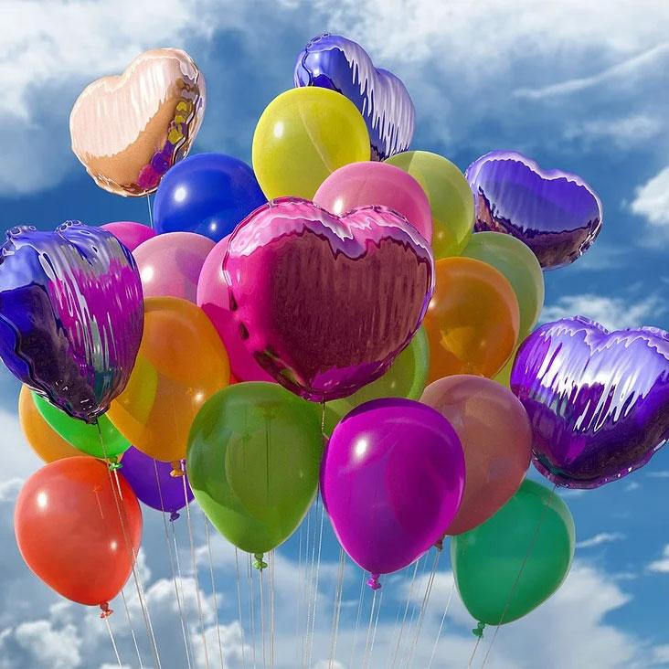 Ett fång ballonger