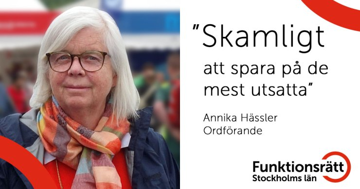 """Annika Hässler: """"Skamligt att spara på de mest utsatta"""""""