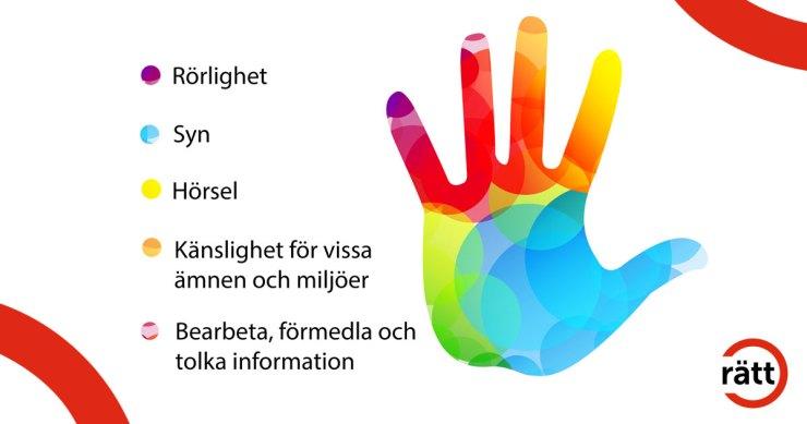 En färgglad hand