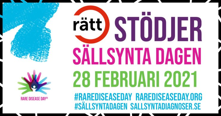 Vi stödjer sällsynta dagen 28 februari!