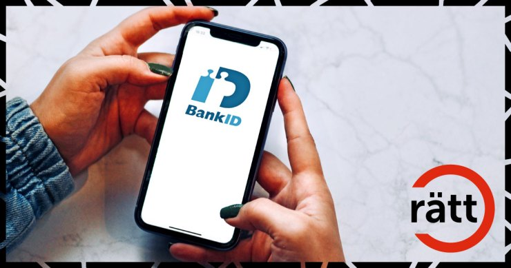 Telefonskärm med bank-id