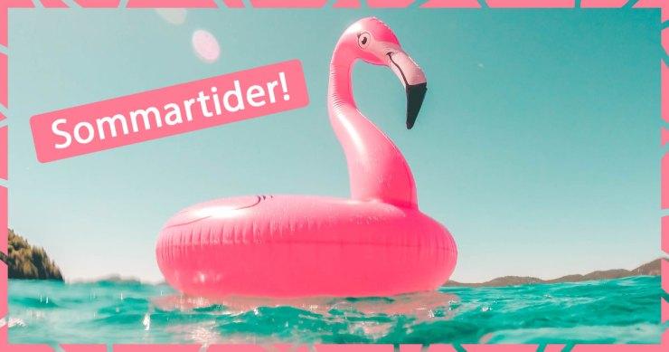 Uppblåsbar flamingo i vatten