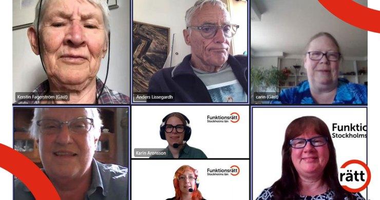 Flera personer i digitalt möte