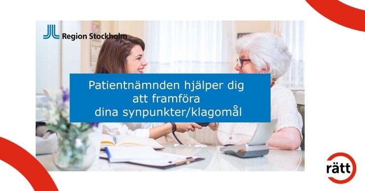Patientnämnden hjälper dig att framföra klagomål