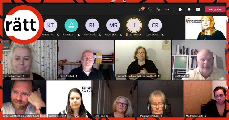 Flera personer i ett digitalt möte