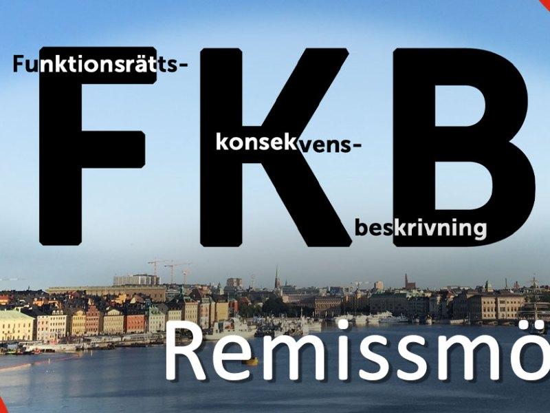 Funktionsrättskonsekvensbeskrivning, FKB, remissmöte.